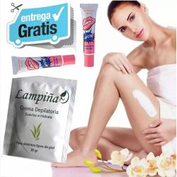 Crema Depilatoria Extractos Naturales + Labial Brillo Corea