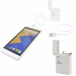 Cable 2 En 1 Usb Retractil Android Iphone Tipo Encendedor