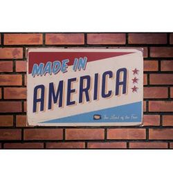 Placa Poster Decorativo Metal Ms70 29x20 Cms Hecho America