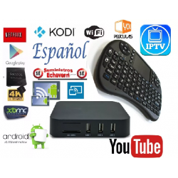Tv Box Smart Android7.1 Kodi Español Mxliptv + Teclado/mouse