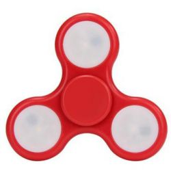 Fidget Hand Spinner LED Luces Juguete Antiestres - Rojo