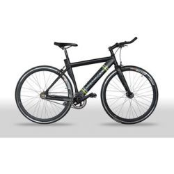 Bicicleta Fixie Brooklyn GW Rin 700 Talla M  Freno V-brake o Carraca - Color Negra - Obsequio Sapitos