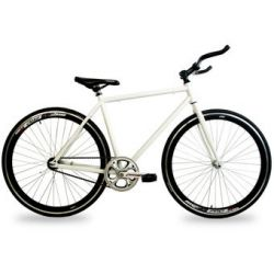 Bicicleta Fixie NISSI Rin 700 Talla M Frenos Carraca - Color Negro/Blanco