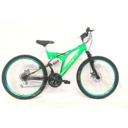 Bicicleta Mtb GW Sinope Rin 26 Talla M 18 Velocidades Doble Suspension Freno de Disco - Color Verde