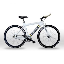 Bicicleta Fixie Brooklyn GW Rin 700  Talla M Freno U-vrake o carraca - Color Blanca