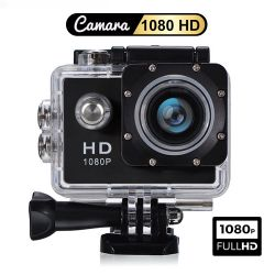 Camara Deportiva Video Full HD 1080P Tipo GoPro Sumergible 30 Mts - Negra